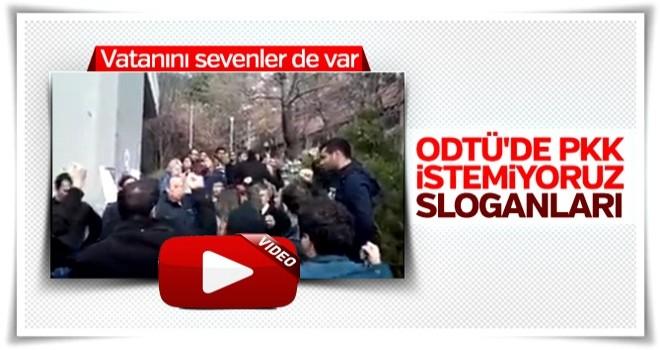 ODTÜ'de PKK karşıtı gösteri