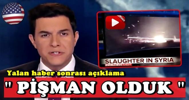 ABC kanalından 'iftira' sonrası Türkiye açıklaması: Pişman olduk!