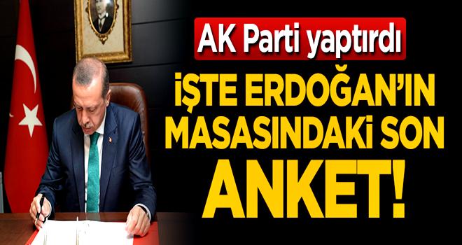 İşte Erdoğan'ın masasındaki son anketin sonuçları