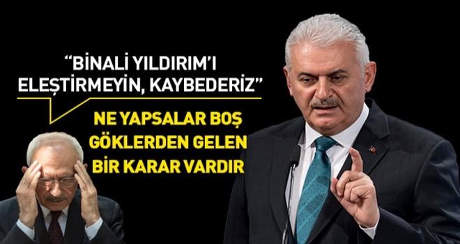 Kılıçdaroğlu'nun Binali Yıldırım'ı eleştirmeyin talimatı