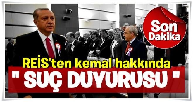 Cumhurbaşkanı Erdoğan'dan Kılıçdaroğlu hakkında suç duyurusu  .