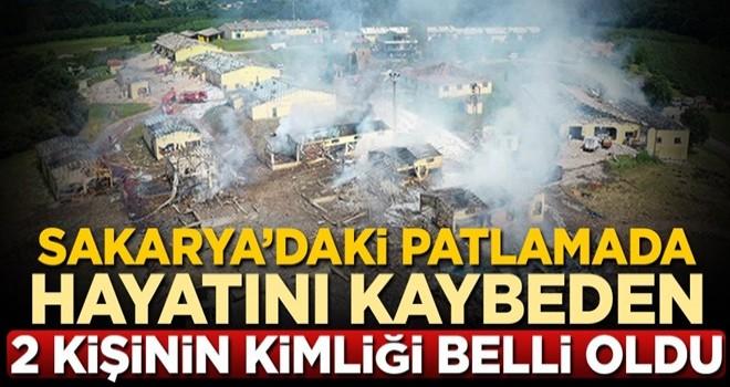 Sakarya'da havai fişek fabrikasındaki patlamada hayatını kaybeden 2 kişinin kimliği belli oldu