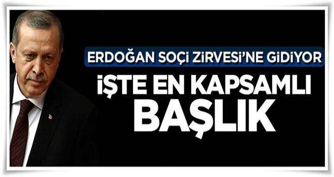 Cumhurbaşkanı Erdoğan'ın Soçi'deki en kapsamlı başlığı PYD