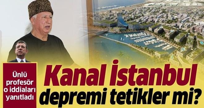 Jeoloji Mühendisi Prof. Dr. Şener Üşümezsoy: 40 kilometrelik 'Kanal İstanbul' depremi tetiklemez.