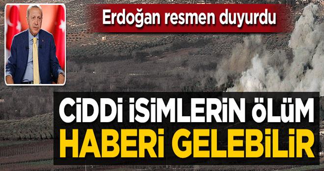 Erdoğan resmen duyurdu: Toplantı merkezlerini vurduk