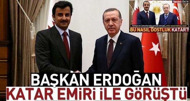 Başkan Erdoğan Katar Emiri ile görüştü .
