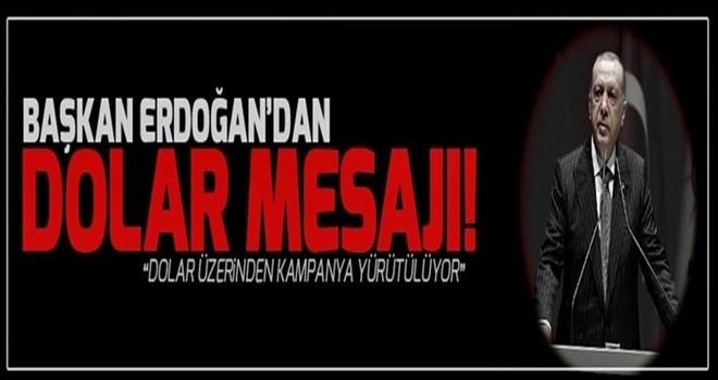 Başkan Erdoğan'dan dolar mesajı.