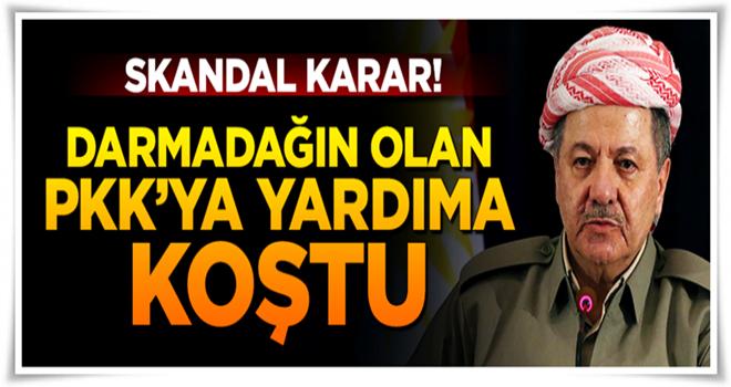 Köşeye sıkışan PKK'nın yardımına Barzani koştu!