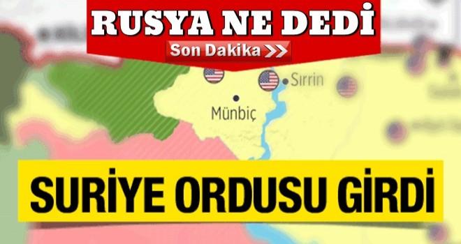 Münbiç'te son durum YPG çekildi Suriye ordusu girip bayrağı dikti