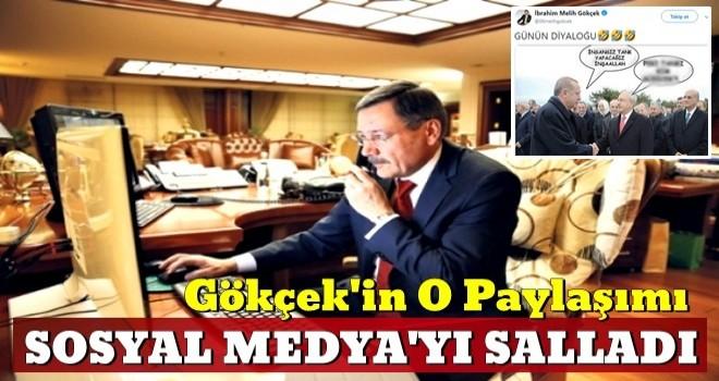 Sosyal medya yıkıldı! Melih Gökçek'ten Erdoğan-Bay kemal paylaşımı
