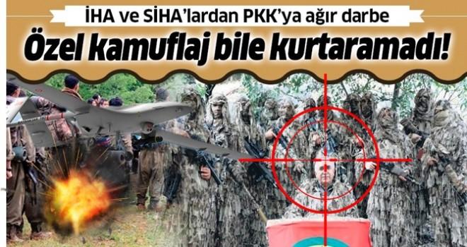 İHA ve SİHA'lardan PKK'ya ağır darbe: Teröristleri özel kamuflaj bile kurtaramadı