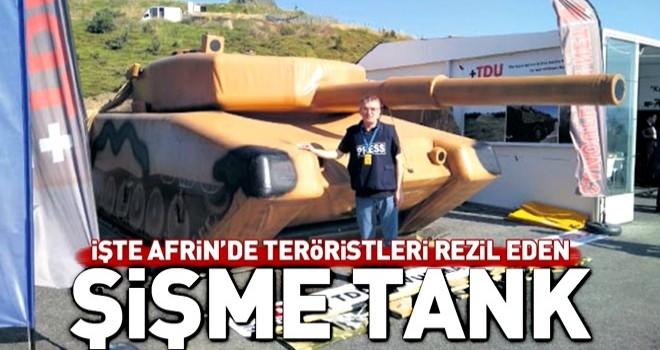 İşte Afrin'de YPG'li teröristleri rezil eden maket tank!