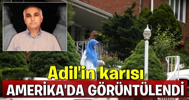 Adil Öksüz'ün eşi Aynur Öksüz New Jersey'de görüntülendi .