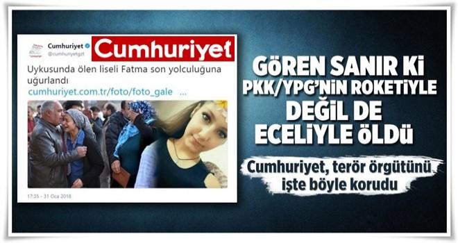 Cumhuriyet, genç kızı öldüren teröristleri kolladı