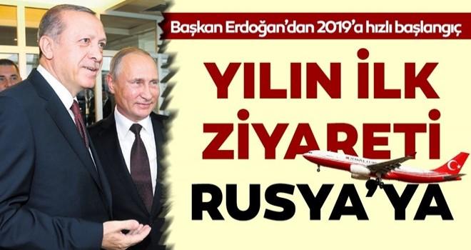 Başkan Erdoğan yılın ilk ziyaretini Rusya'ya yapacak