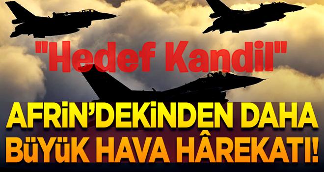 Kandil'e Afrin'dekinden daha büyük hava hârekatı düzenlenecek!