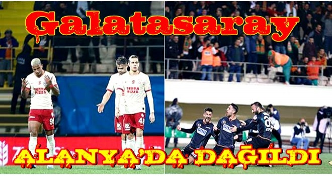 Galatasaray Alanya'da dağıldı!
