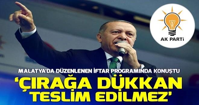 Cumhurbaşkanı Erdoğan Malatya'da itfar programına katıldı .