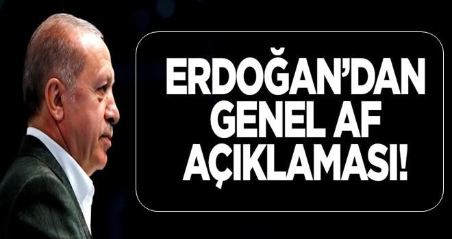 Erdoğan'dan genel af açıklaması!