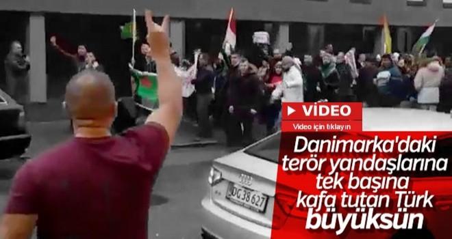 Danimarka'da PKK yandaşlarına kafa tutan Türk