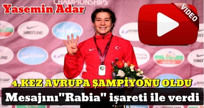 Yasemin Adar, 4. kez Avrupa şampiyonu