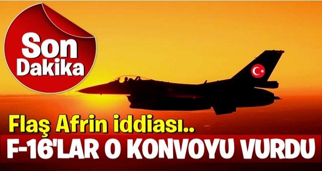 Türk savaş uçakları teröristlere desteğe giden konvoyu vurdu...