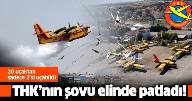 THK'nın şovu elinde patladı! '' 20 ''uçaktan sadece 2 uçak havalandı .