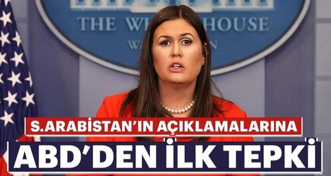 Beyaz Saray'dan Suudi Arabistan'ın açıklamalarına ilk tepki