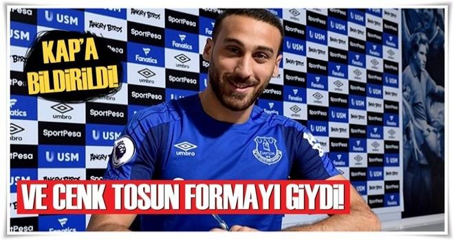 Everton Cenk Tosun'u resmen açıkladı