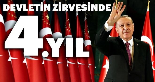 Başkan Erdoğan'ın devletin zirvesindeki 4. yılı