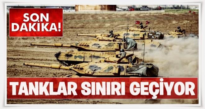 Tanklar sınır kapısından geçiyor!