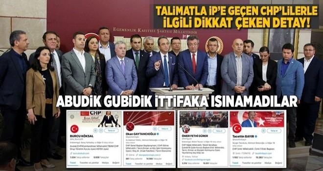 Talimatla parti değiştiren CHP'li vekillerin sosyal medya hesapları dikkat çekiyor .