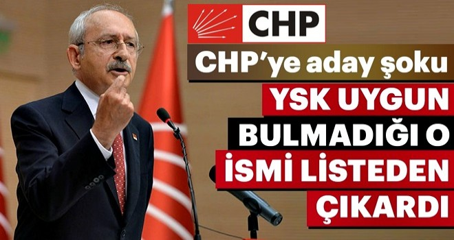 CHP'ye aday şoku... YSK uygun bulmadığı o ismi listeden çıkardı