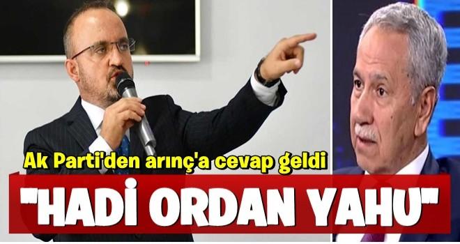 AK Parti'den Arınç'ın Ahmet Türk açıklamalarına cevap: Hiçbir adam uyduruk gerekçelerle...