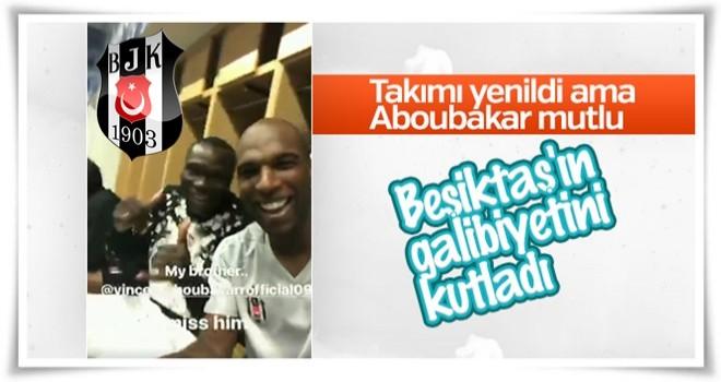 Aboubakar Beşiktaş'ın galibiyetini kutladı