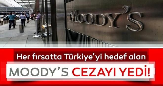 Moody's notları yanlış değerlendirdi, ceza aldı!