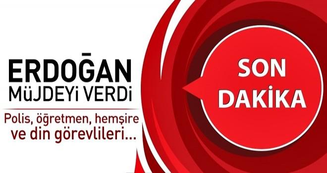 Erdoğan'dan kamu çalışanlarına müjde! Ek gösterge nedir? .
