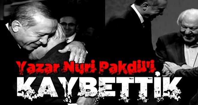 Son dakika: Yazar Nuri Pakdil vefat etti .
