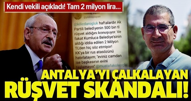 CHP'li eski vekil Yıldıray Sapan'dan CHP'li Kumluca Belediyesi'ne rüşvet suçlaması!