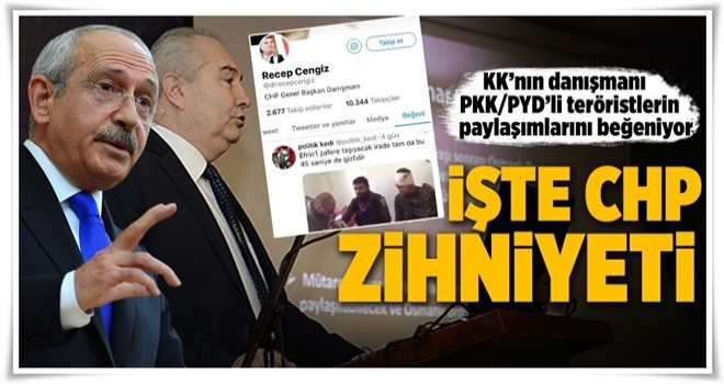 KK'nın danışmanı PKK/PYD'li teröristlerin paylaşımlarını beğeniyor .