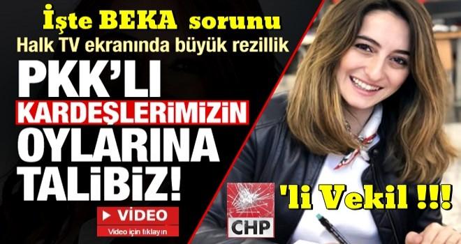 CHP'li vekil Aysu Bankoğlu'ndan skandal çıkış: PKK'ın oylarına talibiz