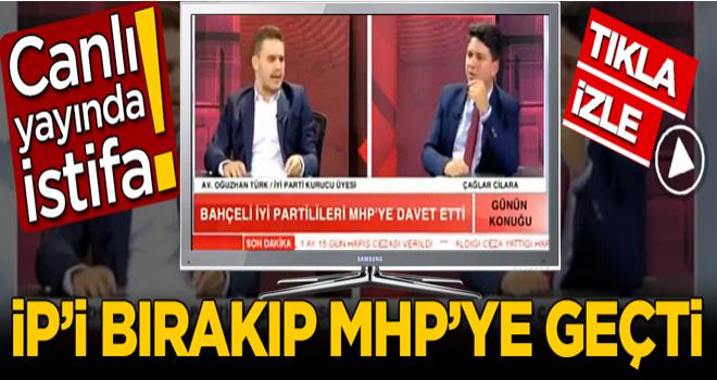 Canlı yayında istifa! Kurucularından olduğu İYİ Parti'yi bırakıp MHP'ye geçti