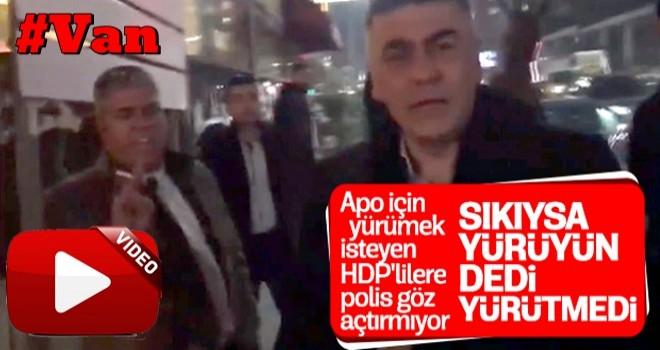 Van'da HDP'nin Öcalan için yürüyüşü engellendi