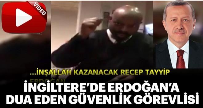 İngiltere'de Erdoğan'a dua eden güvenlik görevlisi