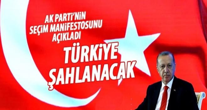 Cumhurbaşkanı Erdoğan seçim manifestosunu açıklıyor