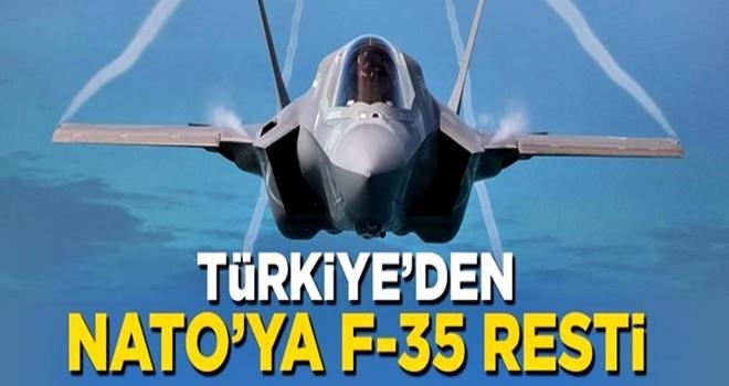 Türkiye NATO'ya F-35 resti çekti