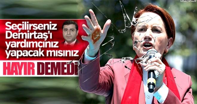Meral Akşener'e Demirtaş soruldu