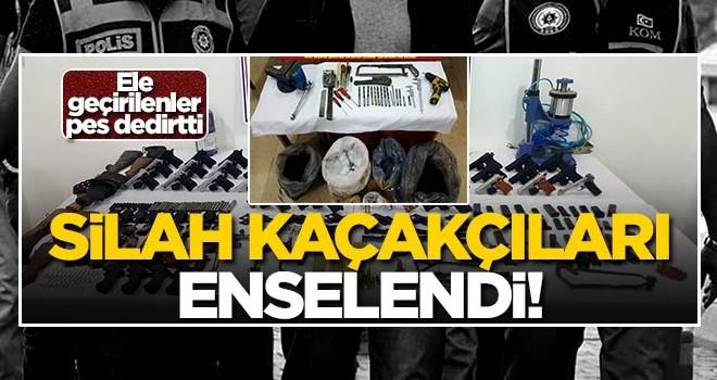 Diyarbakır'da silah kaçakçıları enselendi! Gözaltılar var