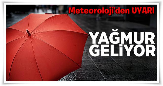 Meteoroloji'den 14 ile yağış uyarısı