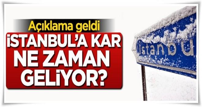 İstanbul'a ne zaman kar yağacağı açıklandı